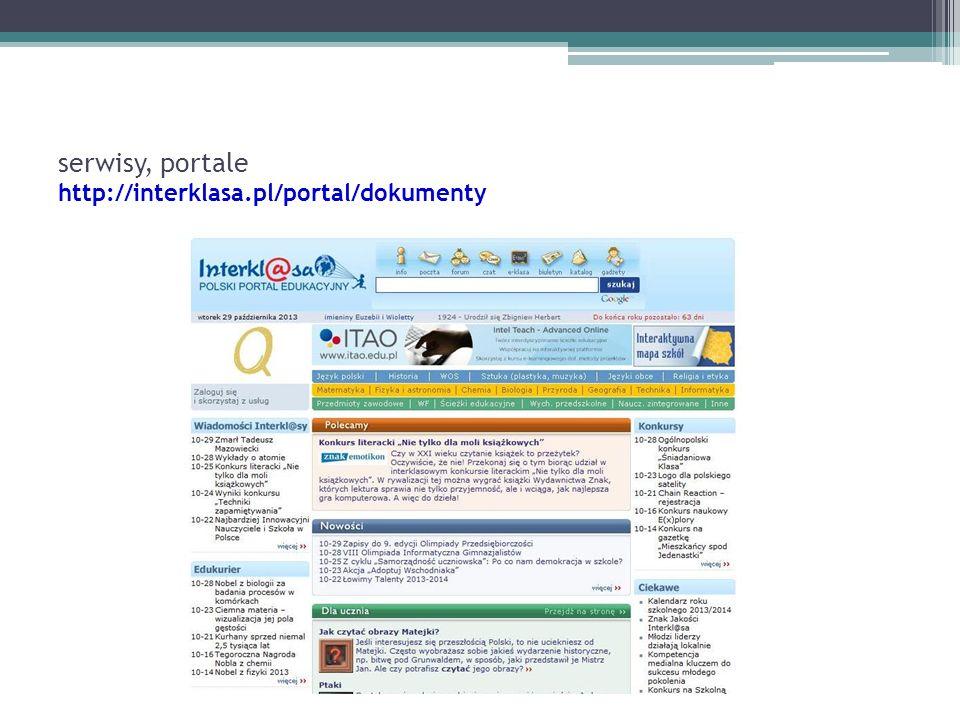 serwisy, portale http://interklasa.pl/portal/dokumenty