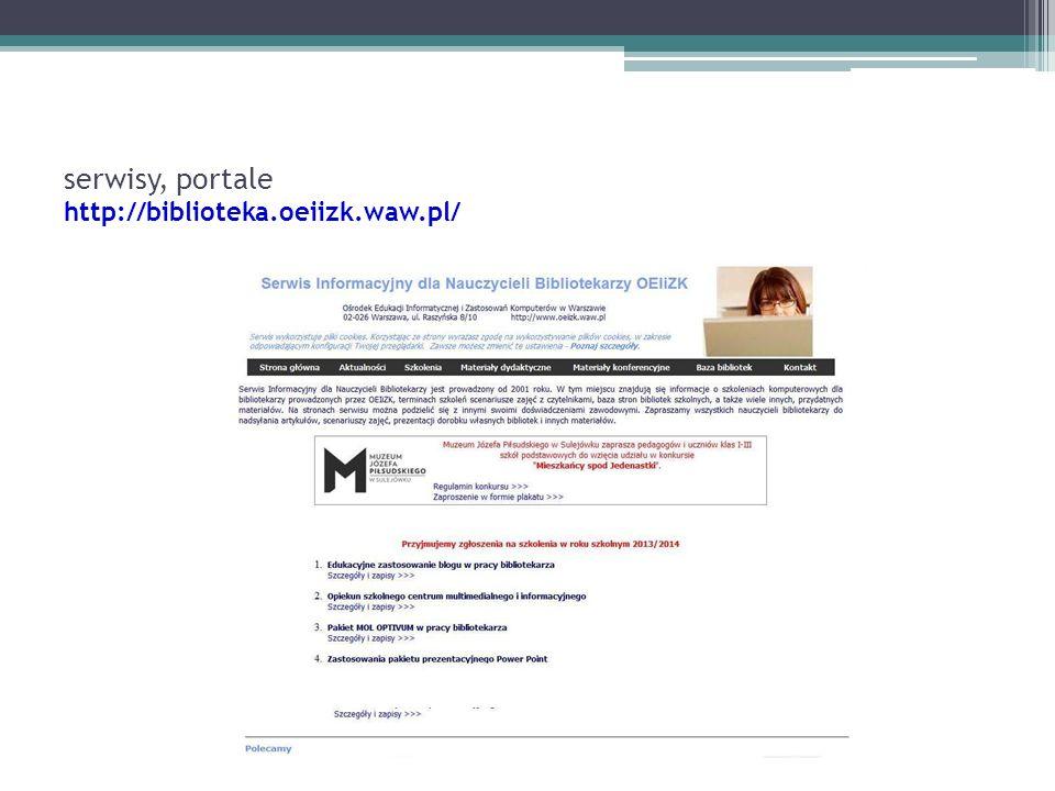 serwisy, portale http://biblioteka.oeiizk.waw.pl/