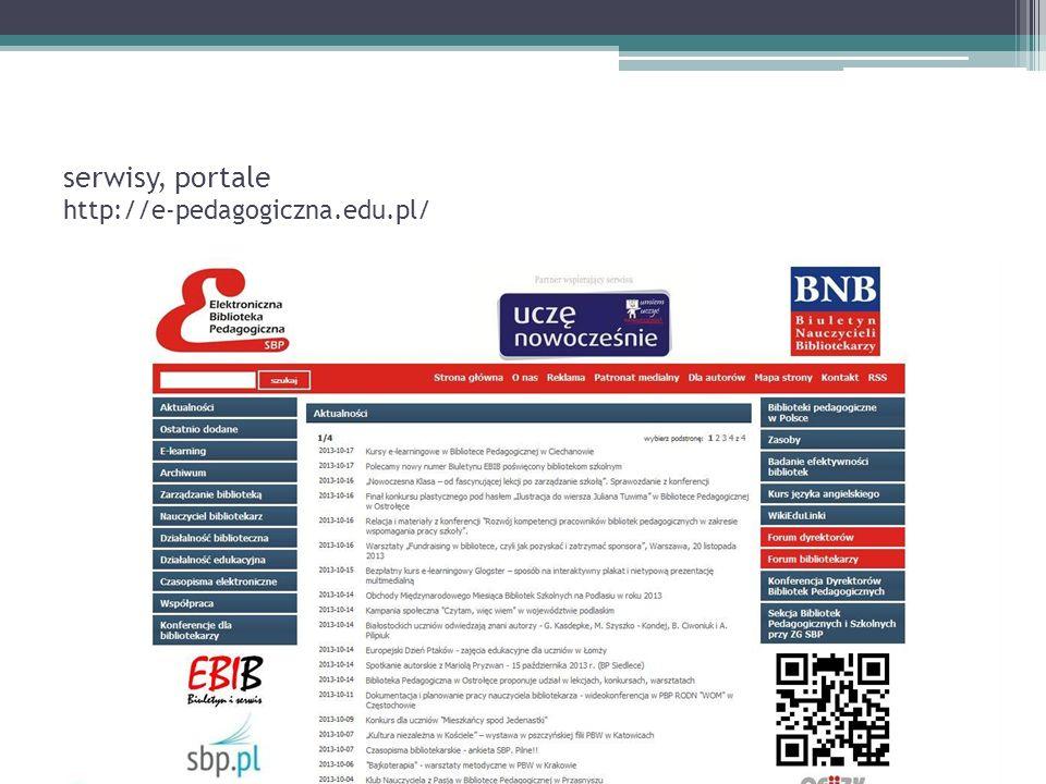 serwisy, portale http://e-pedagogiczna.edu.pl/