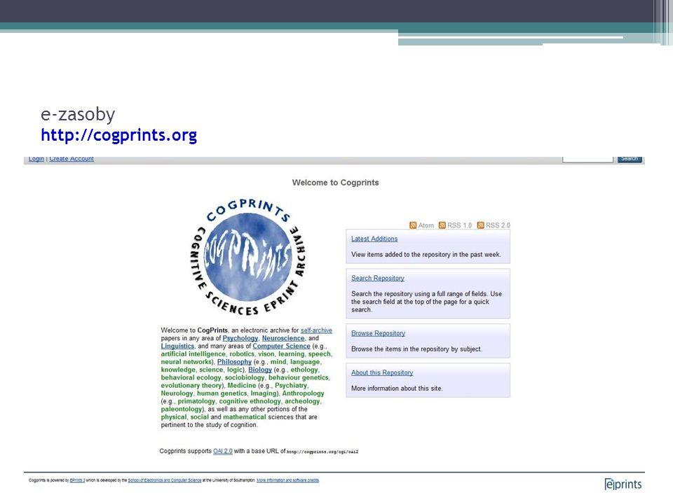e-zasoby http://cogprints.org