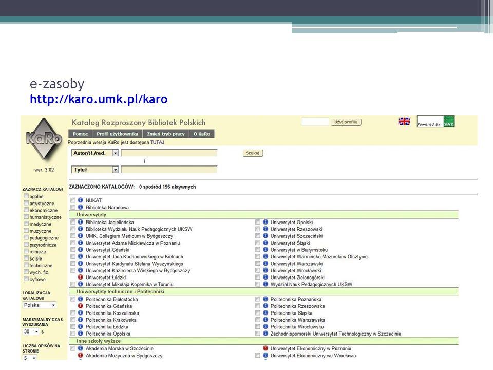e-zasoby http://karo.umk.pl/karo