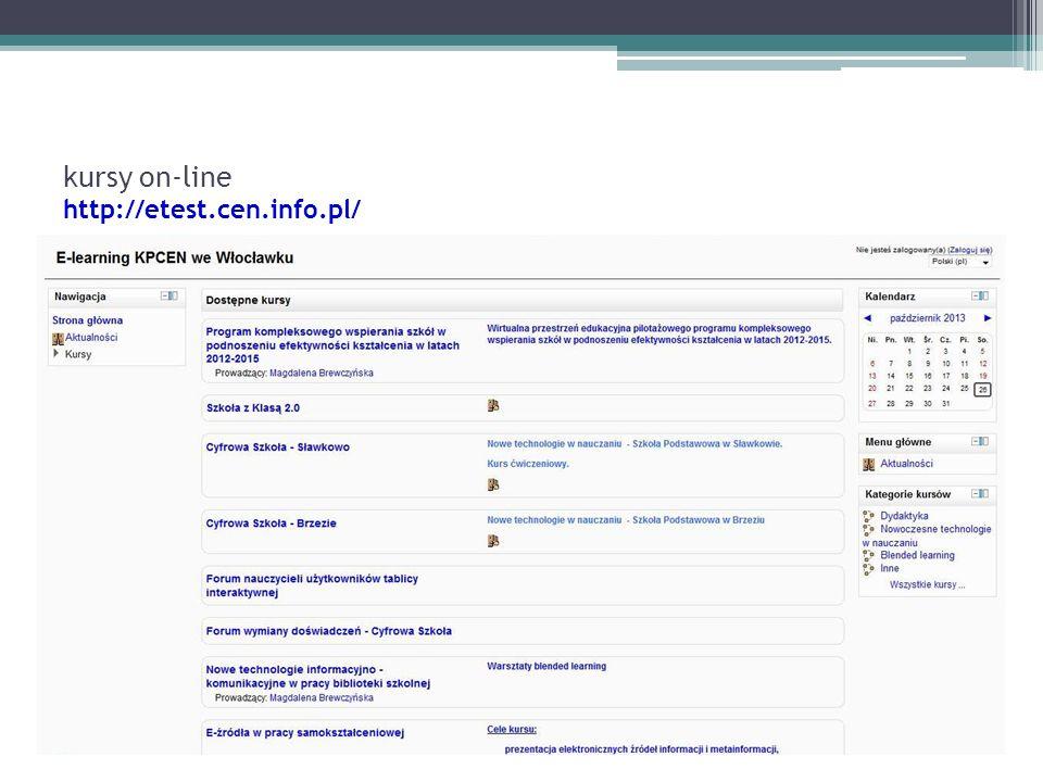 kursy on-line http://etest.cen.info.pl/