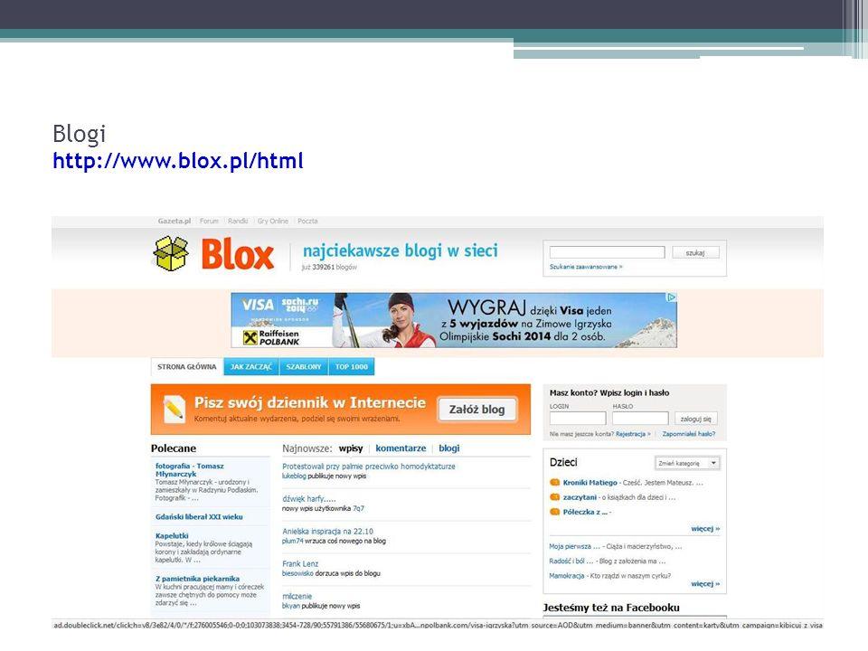 Blogi http://www.blox.pl/html