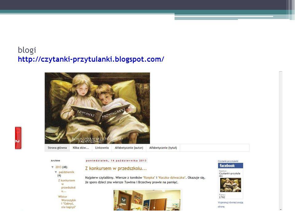 blogi http://czytanki-przytulanki.blogspot.com/