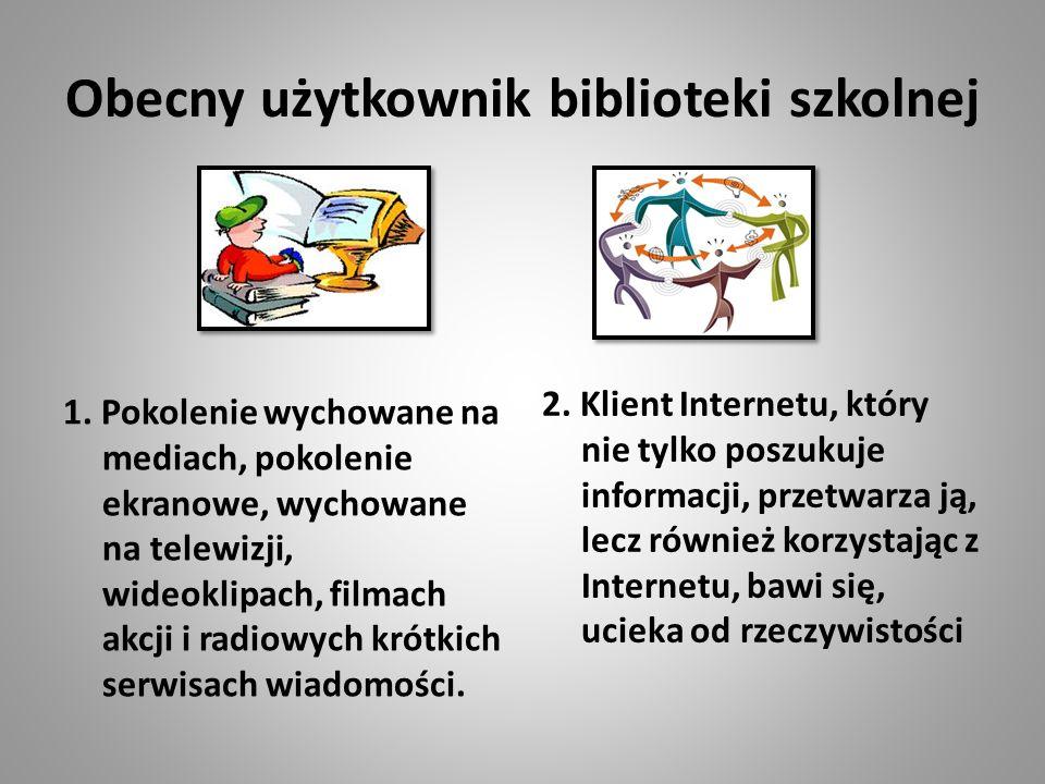 Obecny użytkownik biblioteki szkolnej 1.