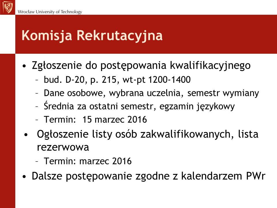 Komisja Rekrutacyjna Zgłoszenie do postępowania kwalifikacyjnego –bud.