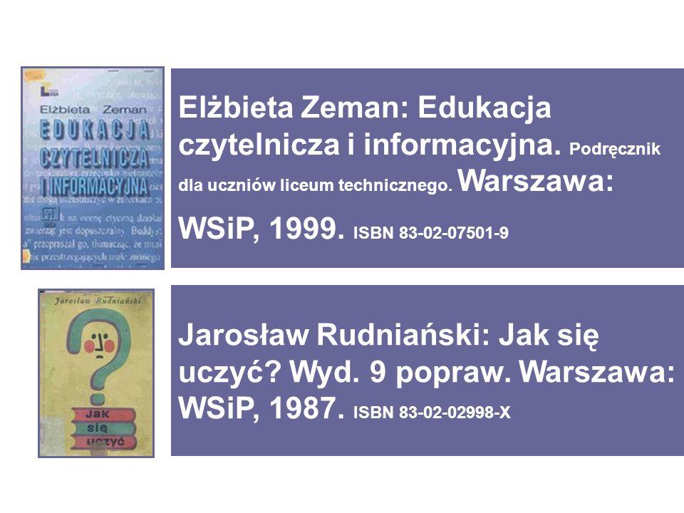 Jarosław Rudniański: Jak się uczyć. Wyd. 9 popraw.