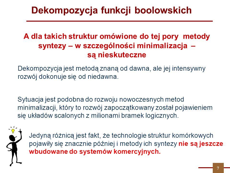 ZPT Dekompozycja jest metodą znan ą od dawna, ale jej intensywny rozwój dokonuje się od niedawna.