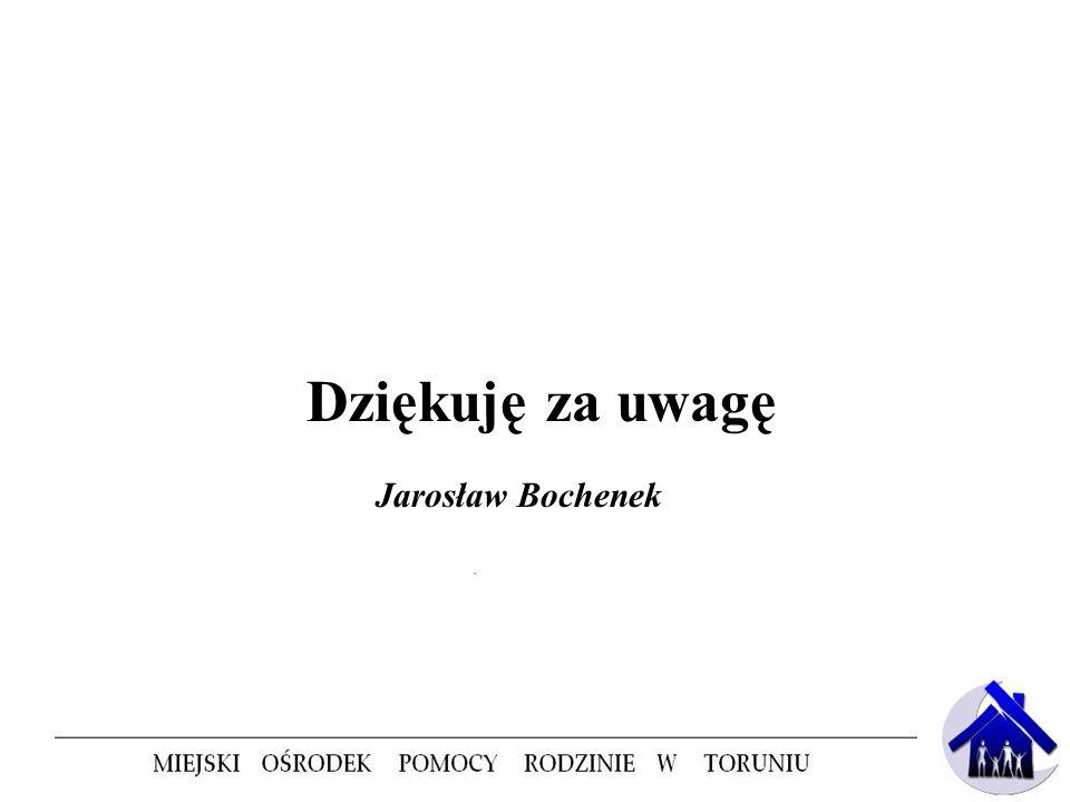 Dziękuję za uwagę Jarosław Bochenek