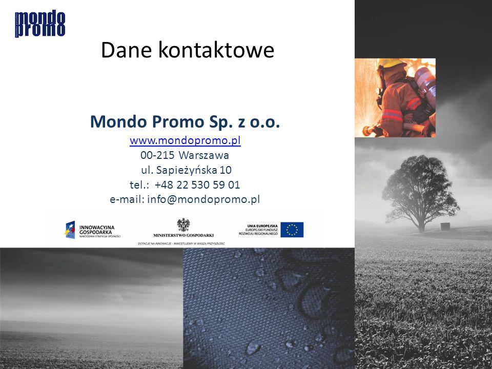 Dane kontaktowe Mondo Promo Sp. z o.o. www.mondopromo.pl 00-215 Warszawa ul.