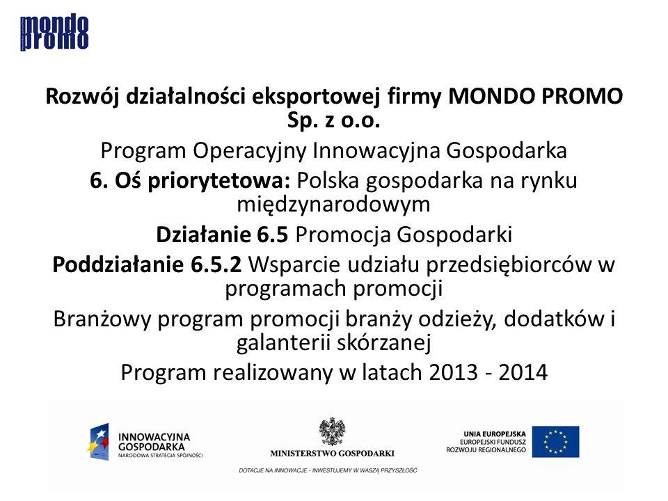 Rozwój działalności eksportowej firmy MONDO PROMO Sp.