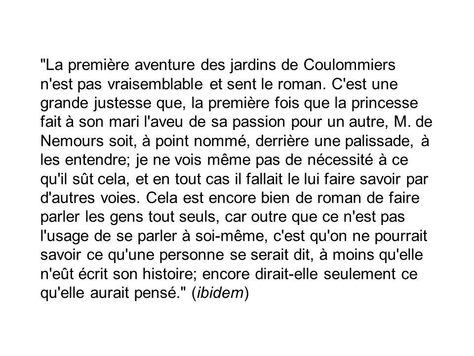 La première aventure des jardins de Coulommiers n est pas vraisemblable et sent le roman.