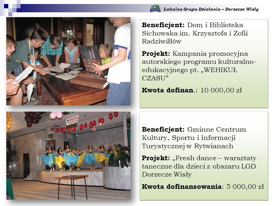 Lokalna Grupa Działania – Dorzecze Wisły Beneficjent: Dom i Biblioteka Sichowska im.