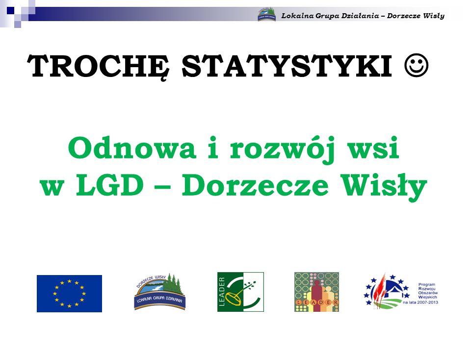 Lokalna Grupa Działania – Dorzecze Wisły Odnowa i rozwój wsi w LGD – Dorzecze Wisły TROCHĘ STATYSTYKI