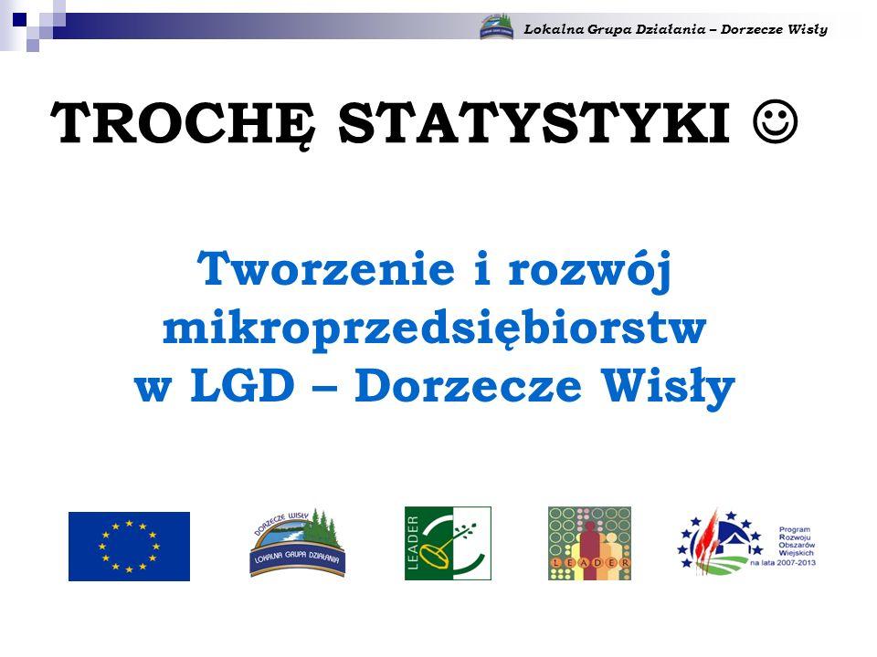 Lokalna Grupa Działania – Dorzecze Wisły Tworzenie i rozwój mikroprzedsiębiorstw w LGD – Dorzecze Wisły TROCHĘ STATYSTYKI