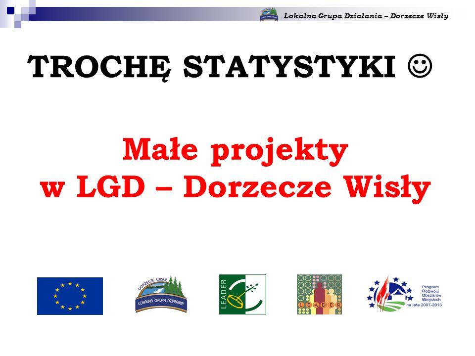 Lokalna Grupa Działania – Dorzecze Wisły Małe projekty w LGD – Dorzecze Wisły TROCHĘ STATYSTYKI