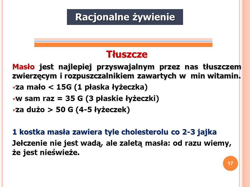 18 Tłuszcze słonecznikowy - do stosowania na zimno (w sałatkach); rzepakowy - dobry do smażenia, ale zawiera szkodliwy kwas erukowy, dlatego nie należy stosować go w dużych ilościach; lniany - do stosowania na zimno, skutecznie zapobiega miażdżycy; kukurydziany - do stosowania na zimno; z pestek winogron - do stosowania na zimno; sojowy - można stosować podczas obróbki termicznej, ale raczej do stosowania na zimno; sezamowy - do stosowania na zimno; palmowy - dobry do smażenia; kokosowy - dobry do smażenia; oliwa z oliwek - podczas obróbki termicznej nie wytwarzają się toksyczne związki, ale oliwa traci wówczas swoje właściwości.