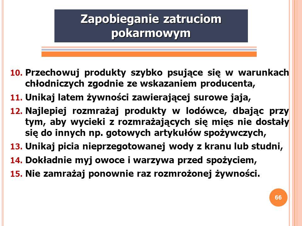 67 Z AKOŃCZENIE Zasady żywienia wyrażone przez prof.