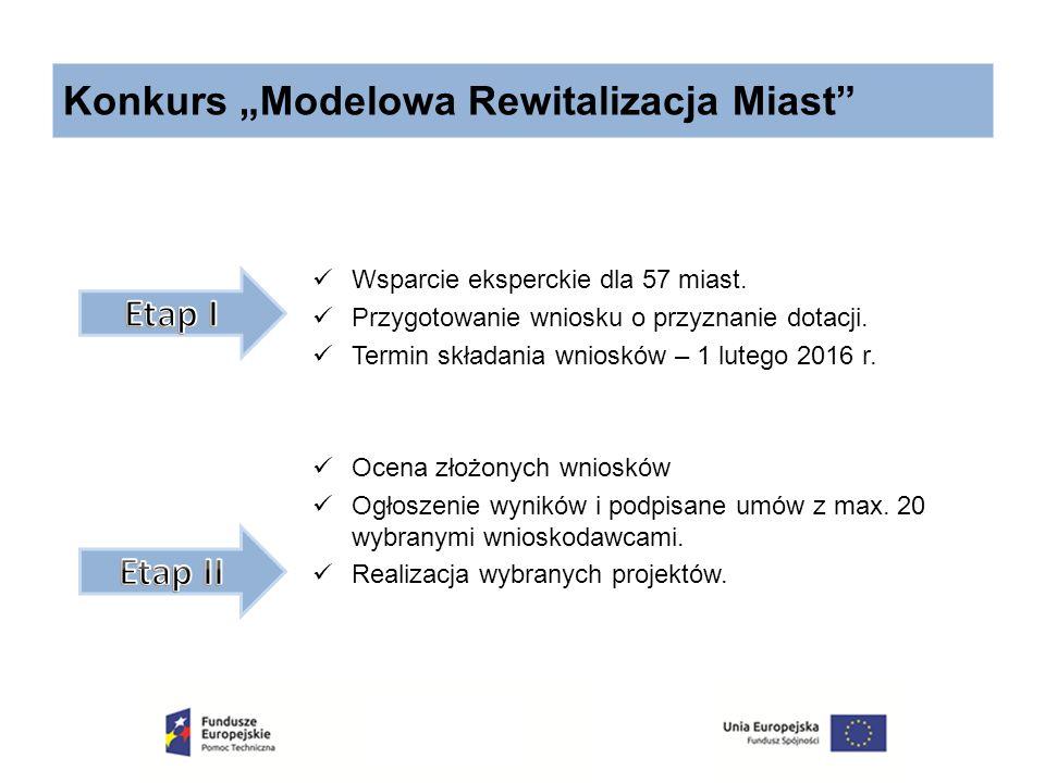 """Konkurs """"Modelowa Rewitalizacja Miast"""" Wsparcie eksperckie dla 57 miast. Przygotowanie wniosku o przyznanie dotacji. Termin składania wniosków – 1 lut"""