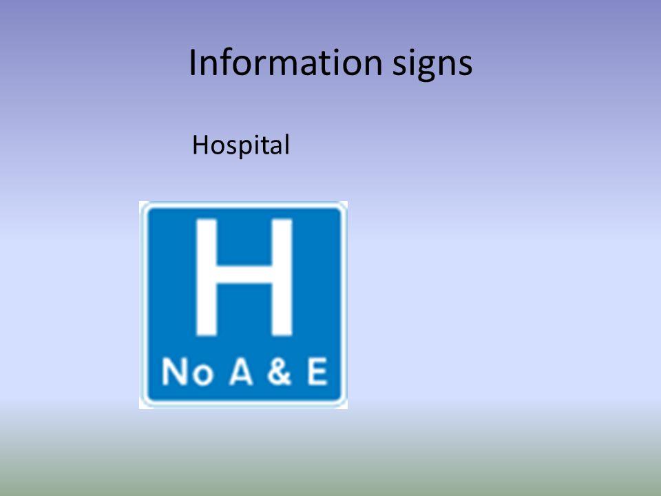 Information signs Hospital