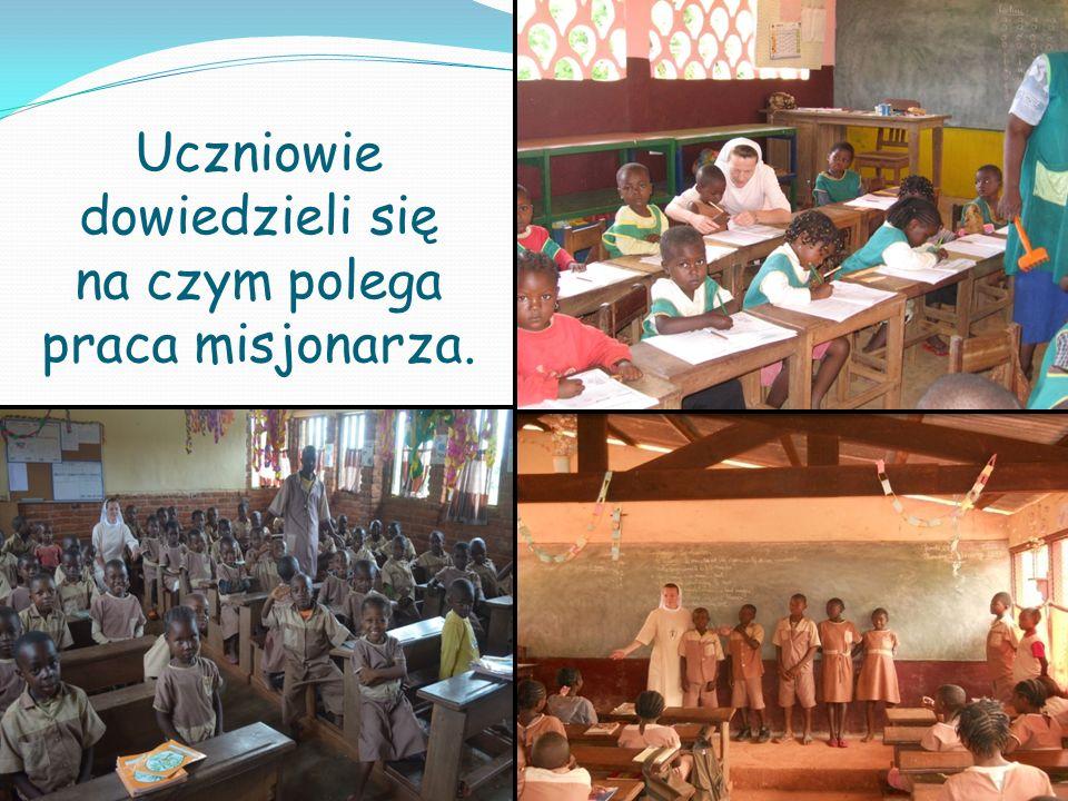 Uczniowie dowiedzieli się na czym polega praca misjonarza.