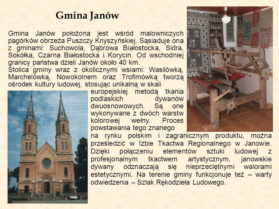 Gmina Janów na rynku polskim i zagranicznym produktu, można prześledzić w Izbie Tkactwa Regionalnego w Janowie. Dzięki połączeniu elementów sztuki lud