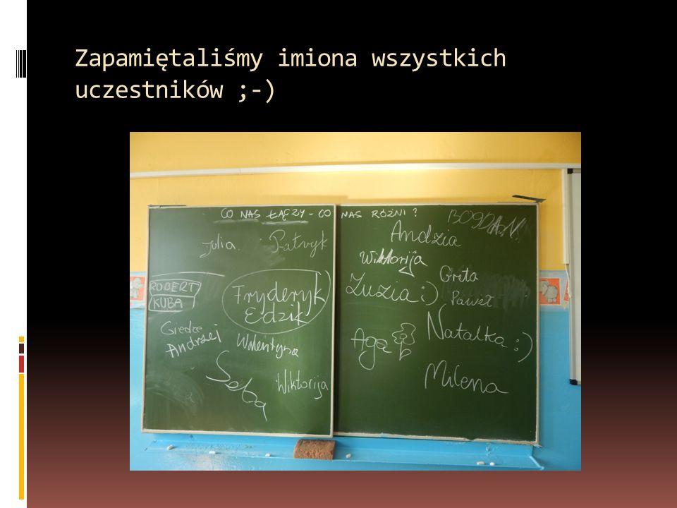 Zapamiętaliśmy imiona wszystkich uczestników ;-)