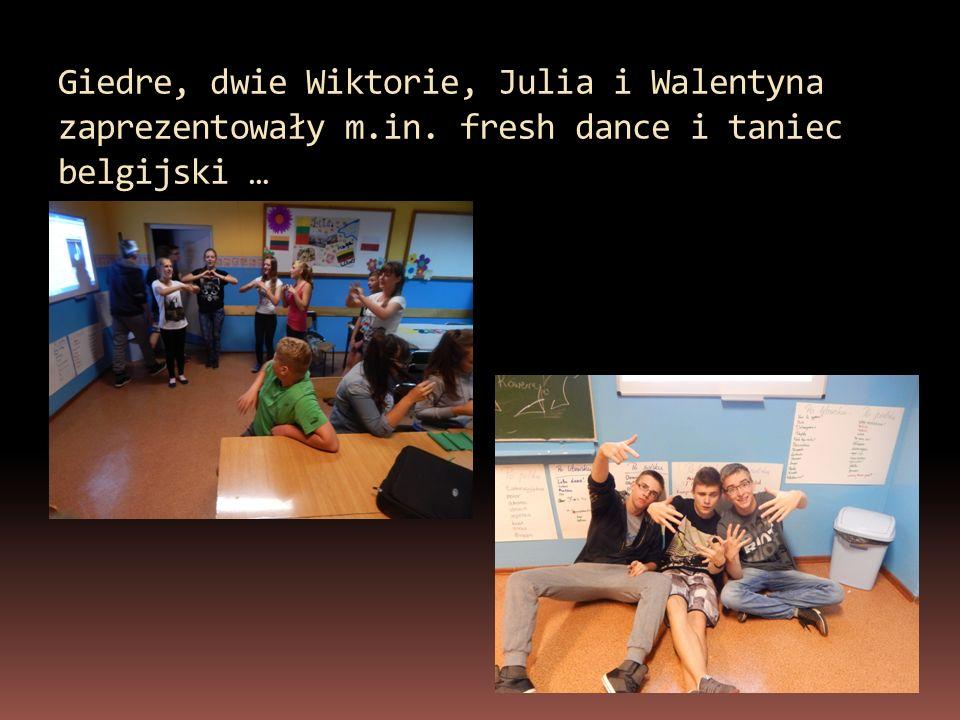 Giedre, dwie Wiktorie, Julia i Walentyna zaprezentowały m.in. fresh dance i taniec belgijski …