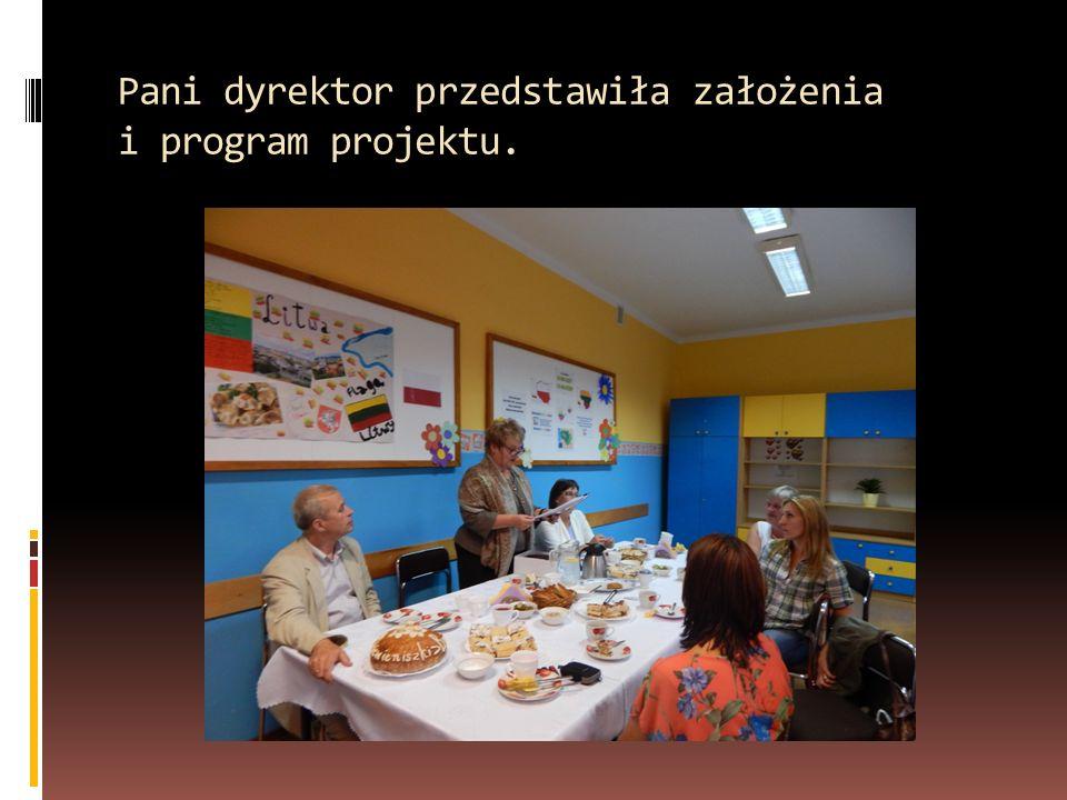 Pani dyrektor przedstawiła założenia i program projektu.