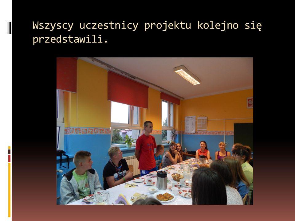 Wszyscy uczestnicy projektu kolejno się przedstawili.