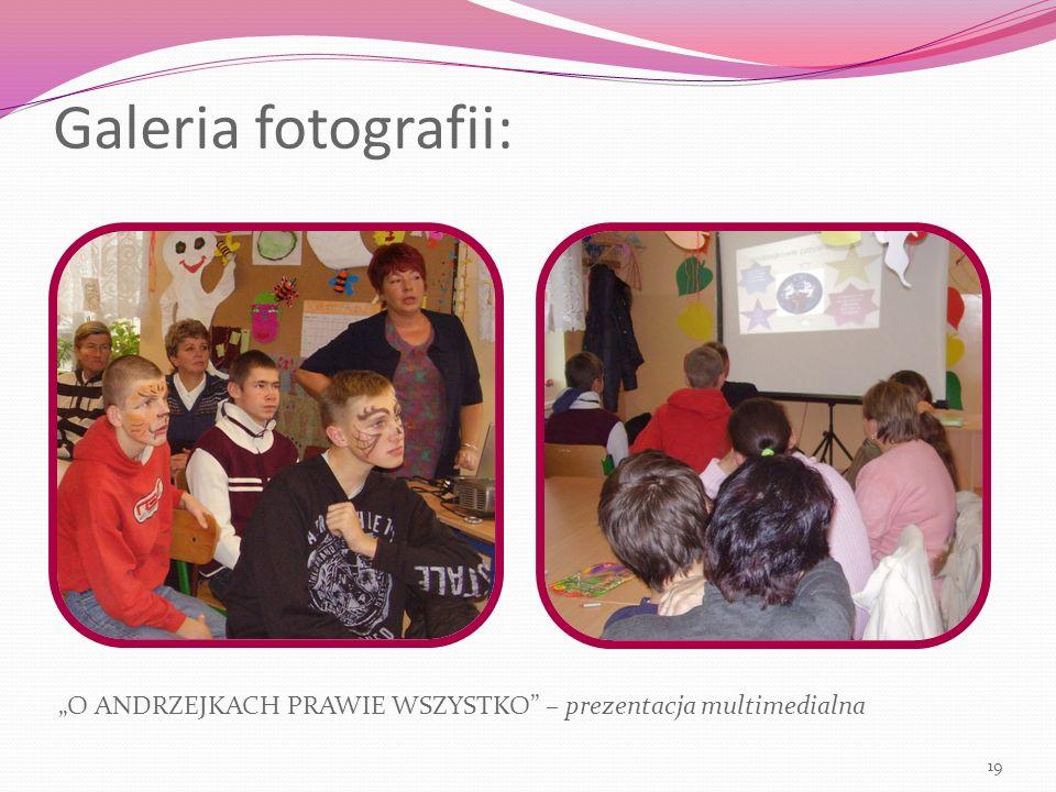"""Galeria fotografii: """"O ANDRZEJKACH PRAWIE WSZYSTKO – prezentacja multimedialna 19"""