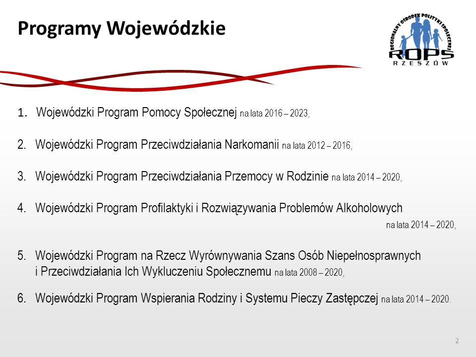 Programy Wojewódzkie 2