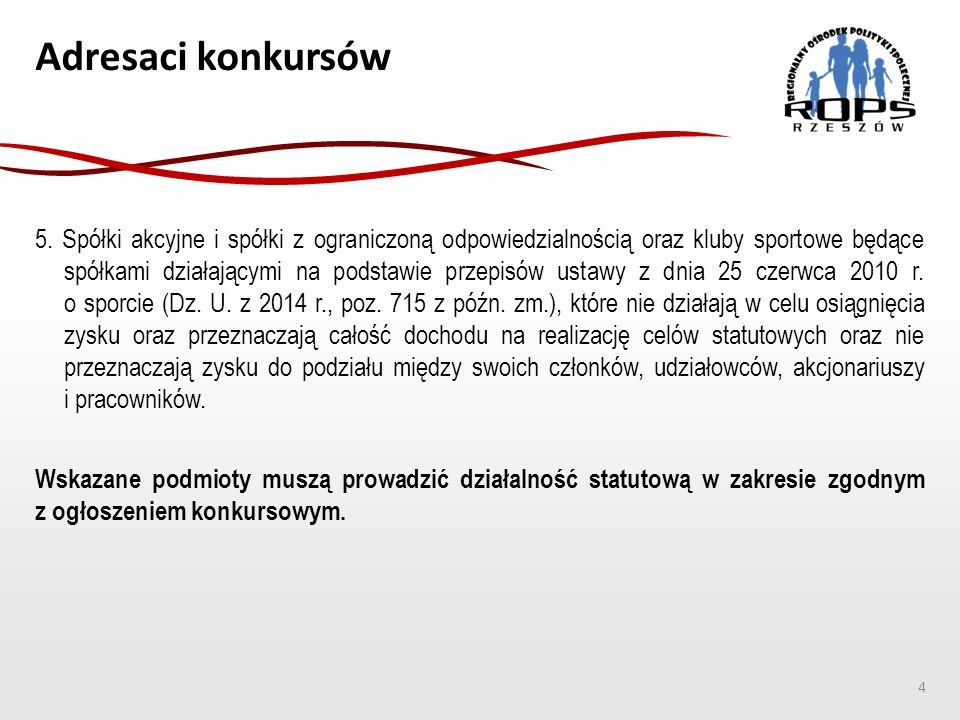 Adresaci konkursów 5.