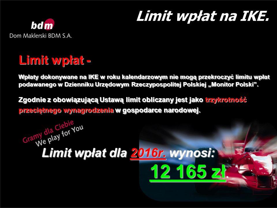 Limit wpłat na IKE.