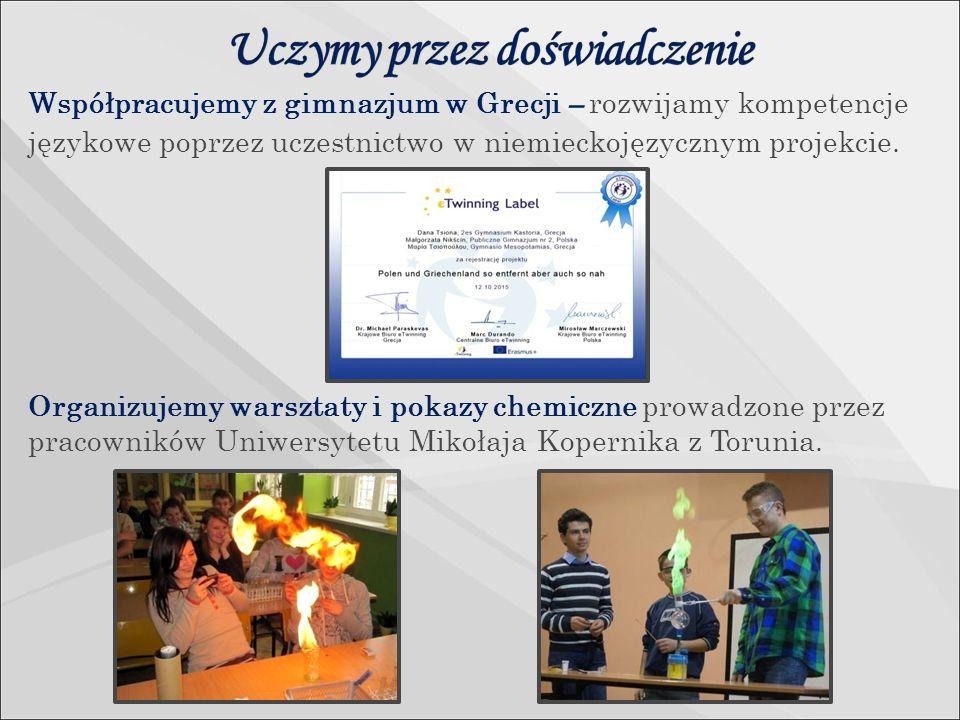 Współpracujemy z gimnazjum w Grecji – rozwijamy kompetencje językowe poprzez uczestnictwo w niemieckojęzycznym projekcie.