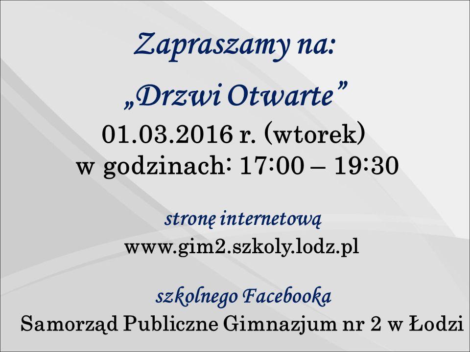 """""""Drzwi Otwarte 01.03.2016 r."""