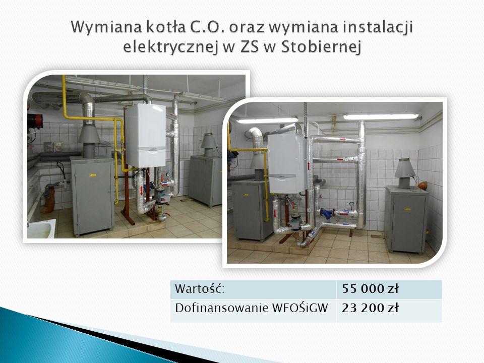 Wartość:55 000 zł Dofinansowanie WFOŚiGW23 200 zł