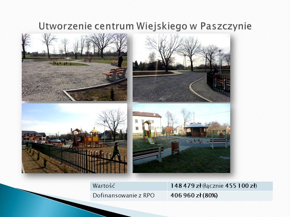 Wartość148 479 zł (łącznie 455 100 zł) Dofinansowanie z RPO406 960 zł (80%)