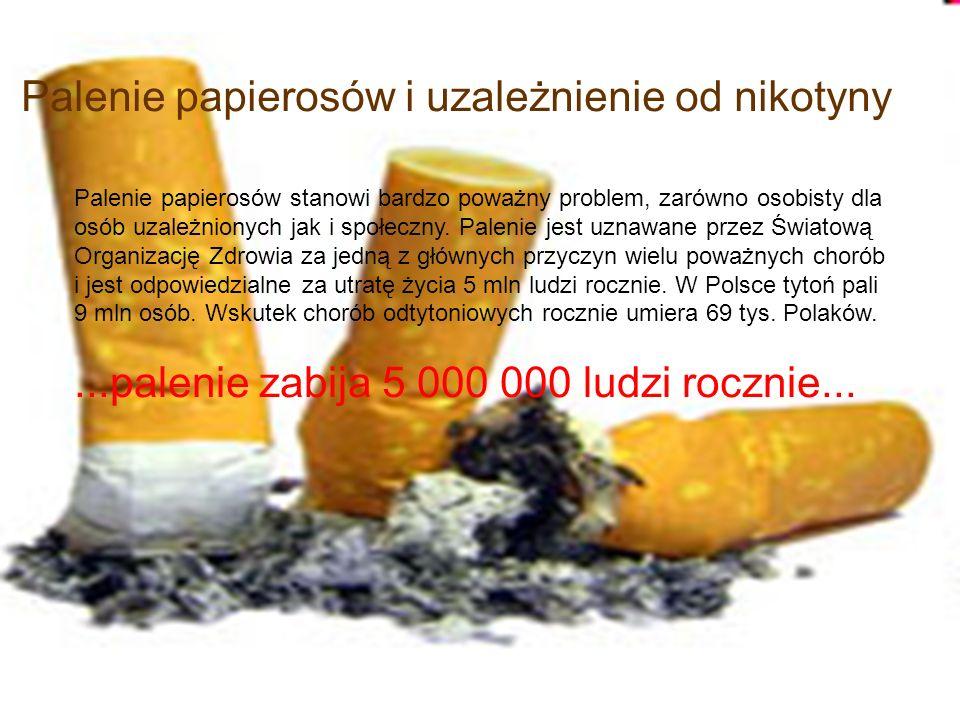 Palenie papierosów stanowi bardzo poważny problem, zarówno osobisty dla osób uzależnionych jak i społeczny. Palenie jest uznawane przez Światową Organ