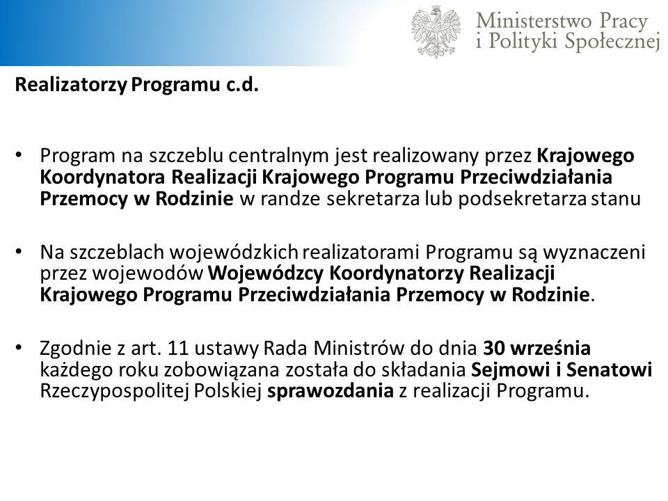 Realizatorzy Programu c.d.