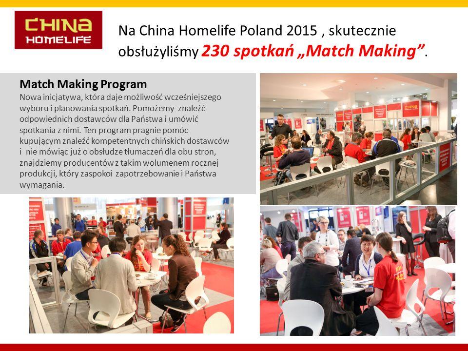Match Making Program Nowa inicjatywa, która daje możliwość wcześniejszego wyboru i planowania spotkań.