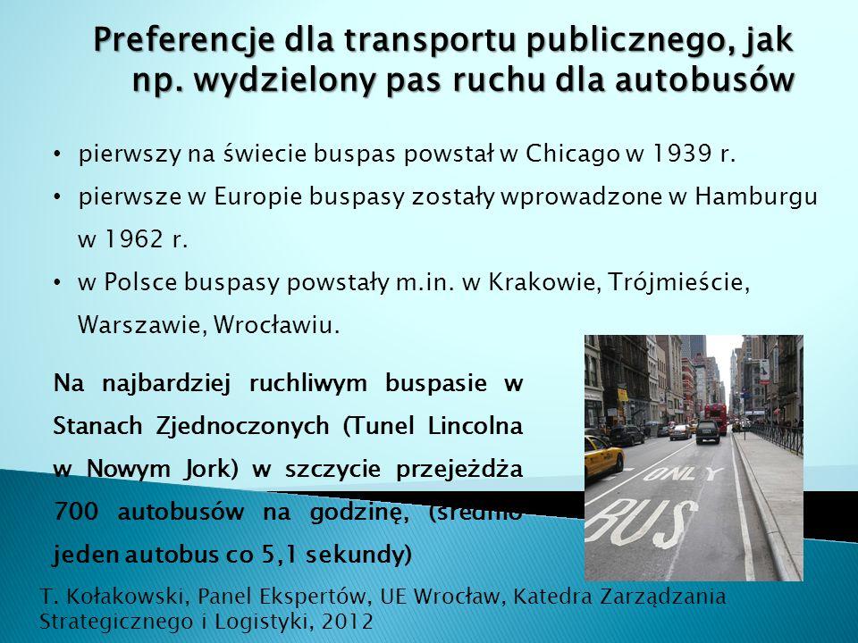 Preferencje dla transportu publicznego, jak np.