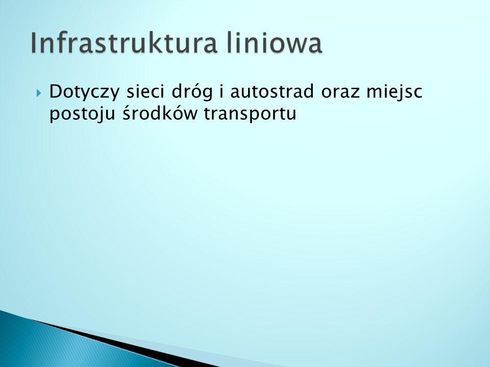  Dotyczy sieci dróg i autostrad oraz miejsc postoju środków transportu