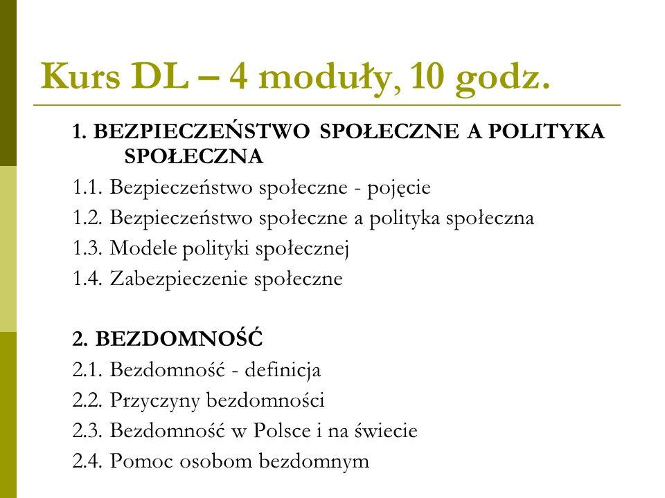 Kurs DL – 4 moduły 3.DEMOGRAFIA A BEZPIECZEŃSTWO SPOŁECZNE 3.1.