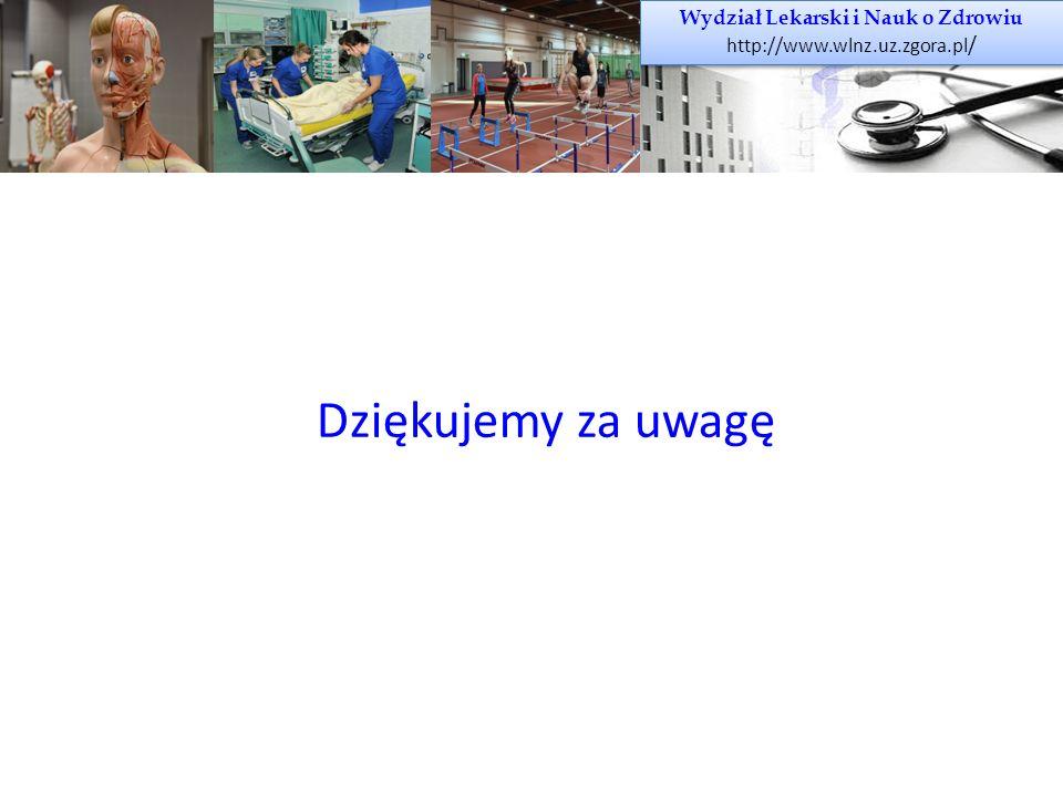 Wydział Lekarski i Nauk o Zdrowiu http://www.wlnz.uz.zgora.pl / Wydział Lekarski i Nauk o Zdrowiu http://www.wlnz.uz.zgora.pl / Dziękujemy za uwagę