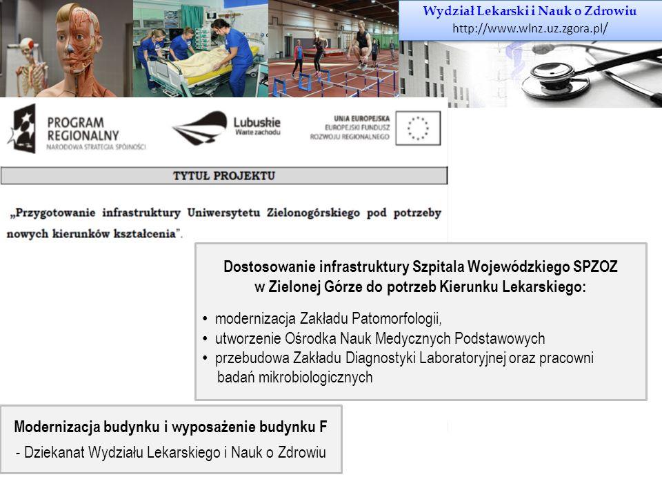Wydział Lekarski i Nauk o Zdrowiu http://www.wlnz.uz.zgora.pl / Wydział Lekarski i Nauk o Zdrowiu http://www.wlnz.uz.zgora.pl / Dostosowanie infrastru