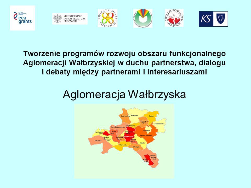 Tworzenie programów rozwoju obszaru funkcjonalnego Aglomeracji Wałbrzyskiej w duchu partnerstwa, dialogu i debaty między partnerami i interesariuszami Aglomeracja Wałbrzyska
