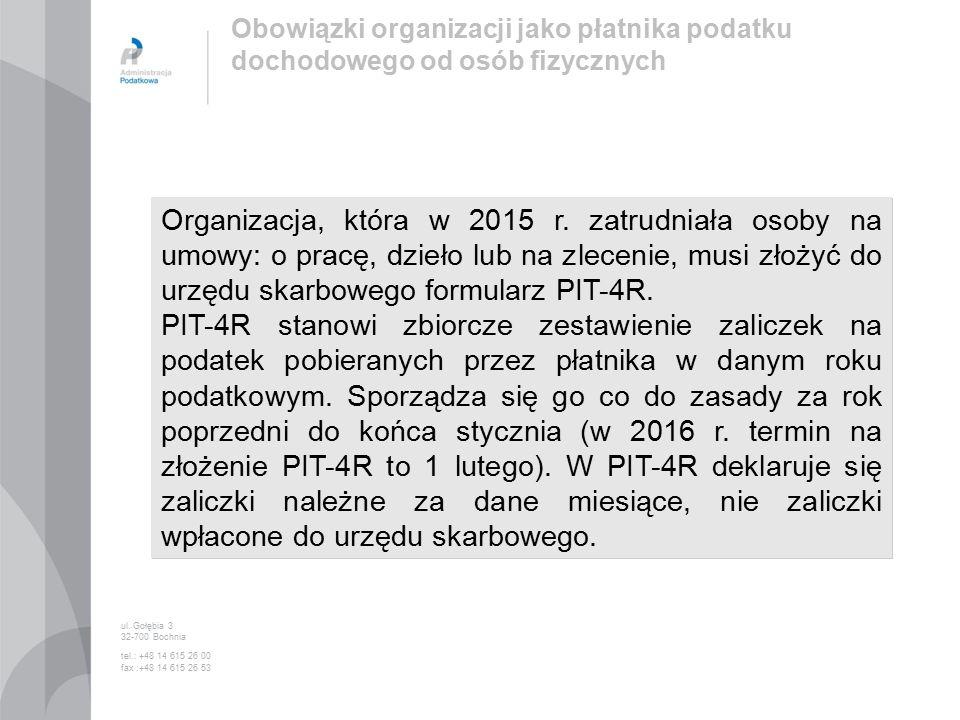 Organizacja, która w 2015 r.