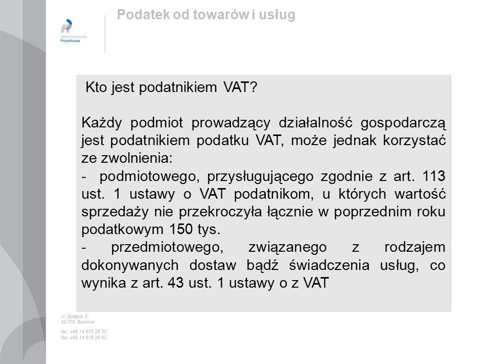 Kto jest podatnikiem VAT.