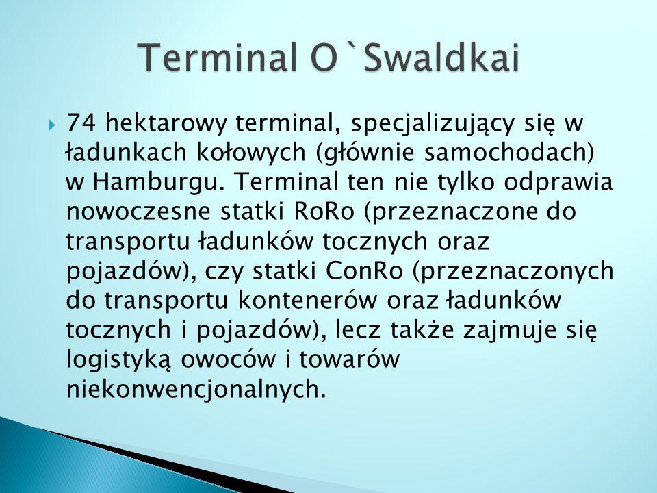  74 hektarowy terminal, specjalizujący się w ładunkach kołowych (głównie samochodach) w Hamburgu. Terminal ten nie tylko odprawia nowoczesne statki R